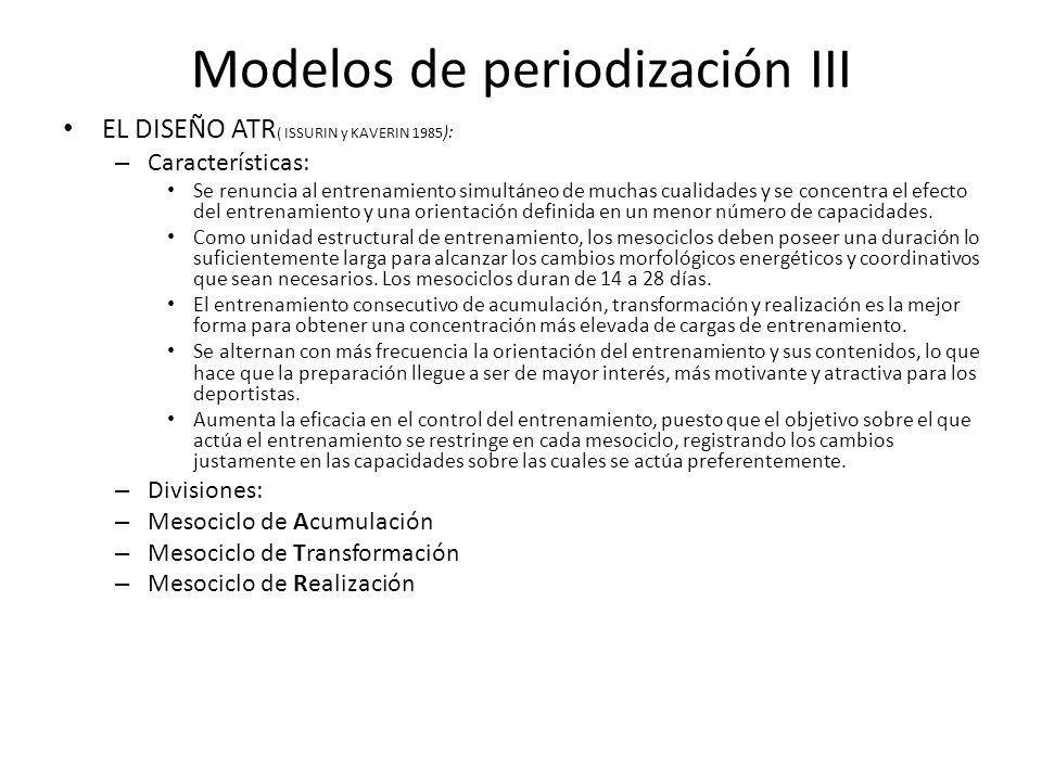 Modelos de periodización III