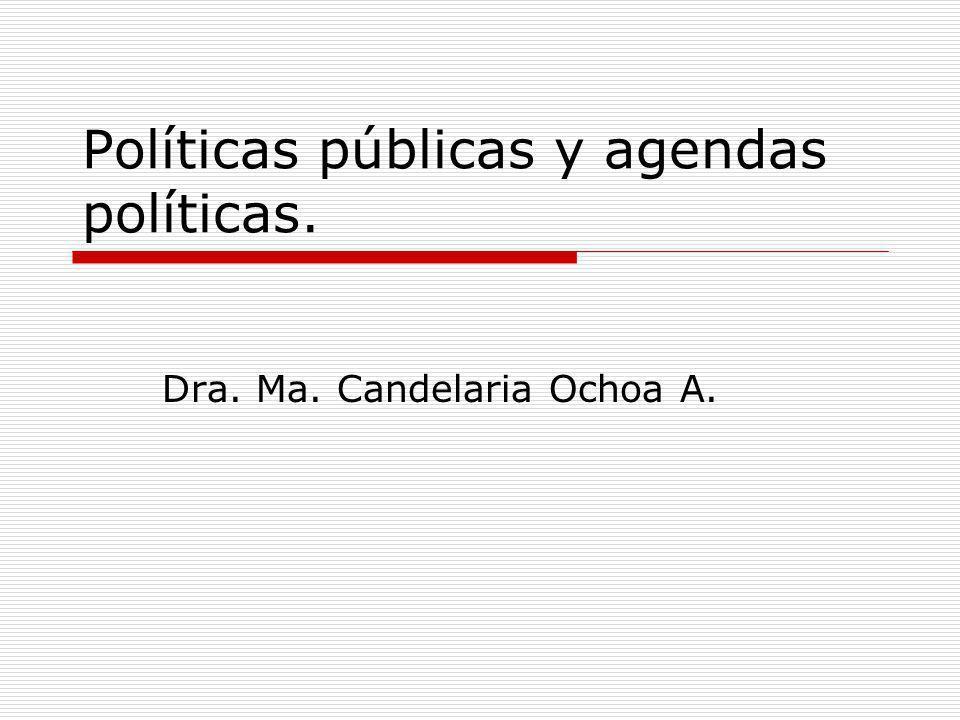 Políticas públicas y agendas políticas.