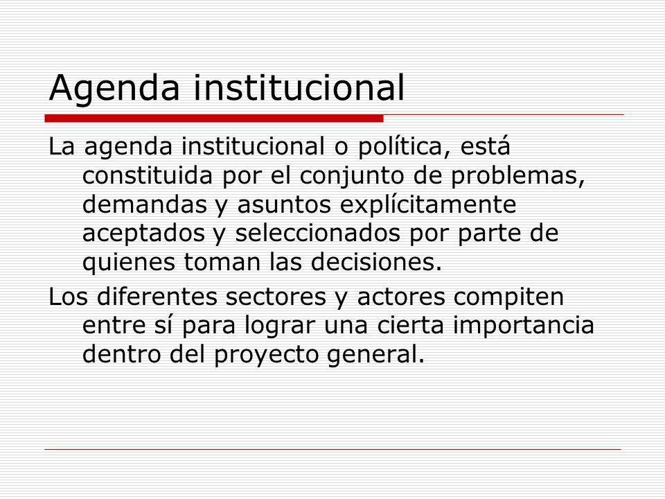 Agenda institucional