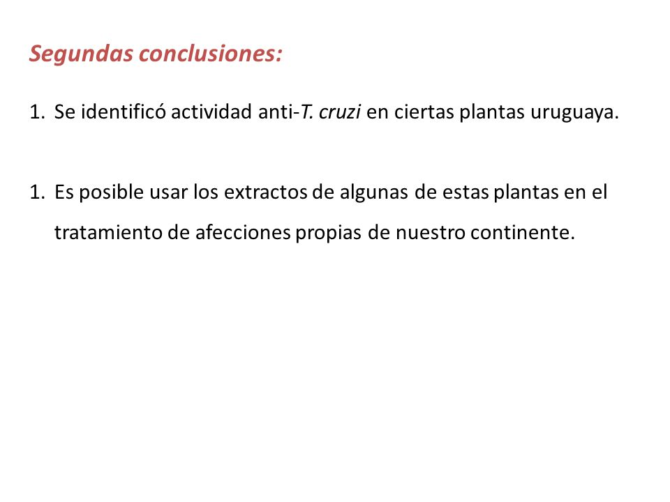 Segundas conclusiones: