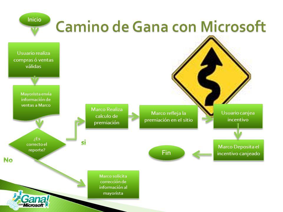 Camino de Gana con Microsoft