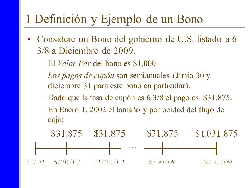 1 Definición y Ejemplo de un Bono