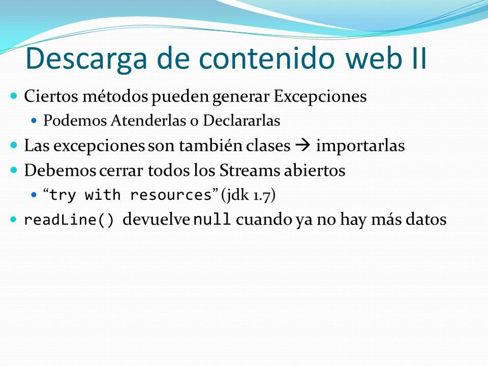 Descarga de contenido web II