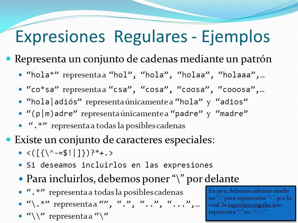 Expresiones Regulares - Ejemplos