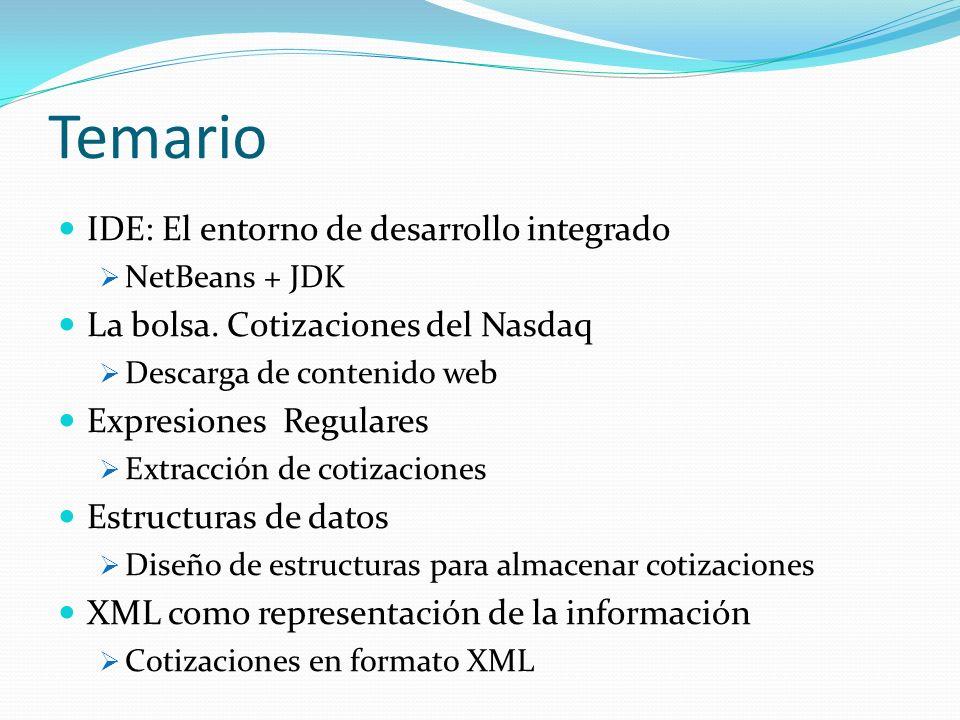 Temario IDE: El entorno de desarrollo integrado