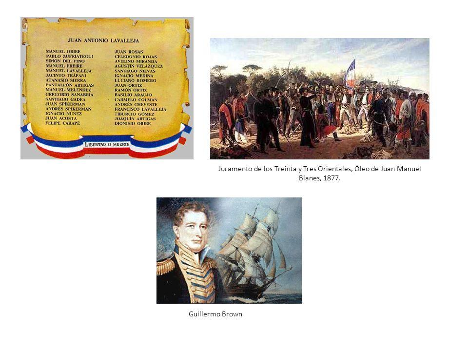 Juramento de los Treinta y Tres Orientales, Óleo de Juan Manuel Blanes, 1877.