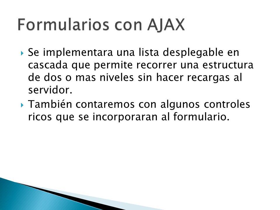 Formularios con AJAX