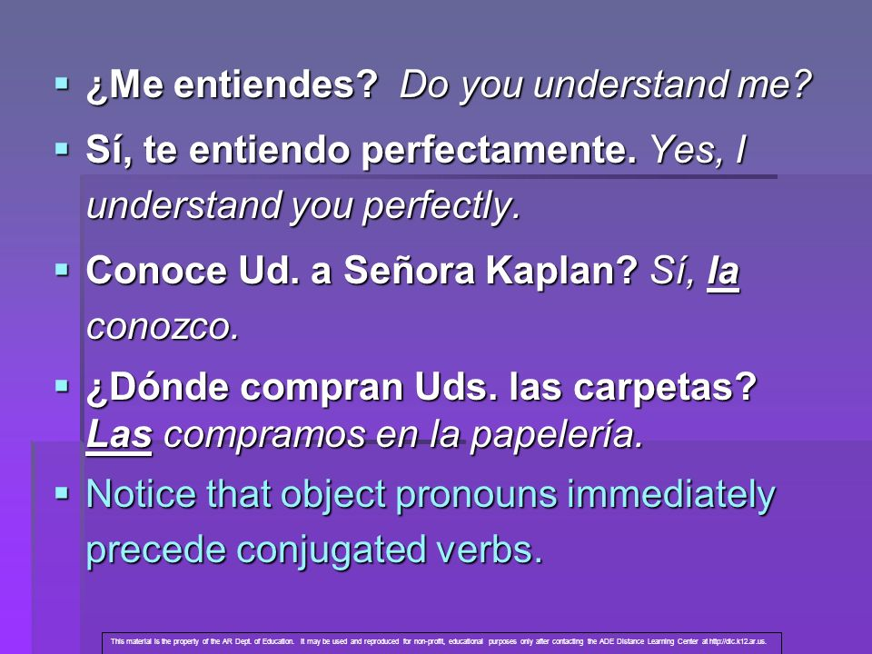 ¿Me entiendes Do you understand me