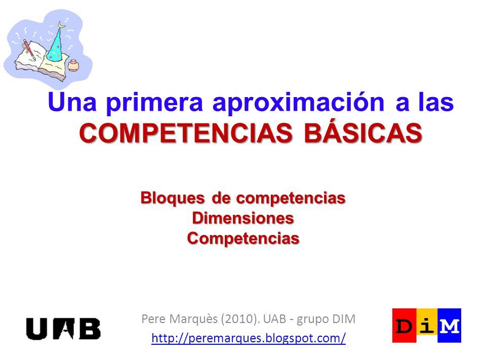 Una primera aproximación a las COMPETENCIAS BÁSICAS