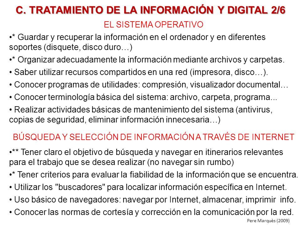 C. TRATAMIENTO DE LA INFORMACIÓN Y DIGITAL 2/6