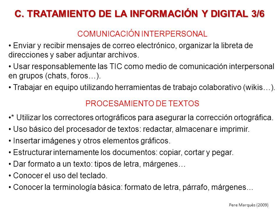 C. TRATAMIENTO DE LA INFORMACIÓN Y DIGITAL 3/6
