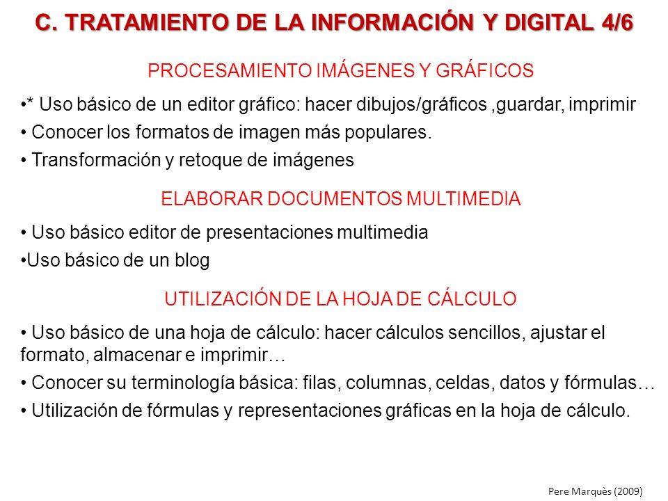 C. TRATAMIENTO DE LA INFORMACIÓN Y DIGITAL 4/6