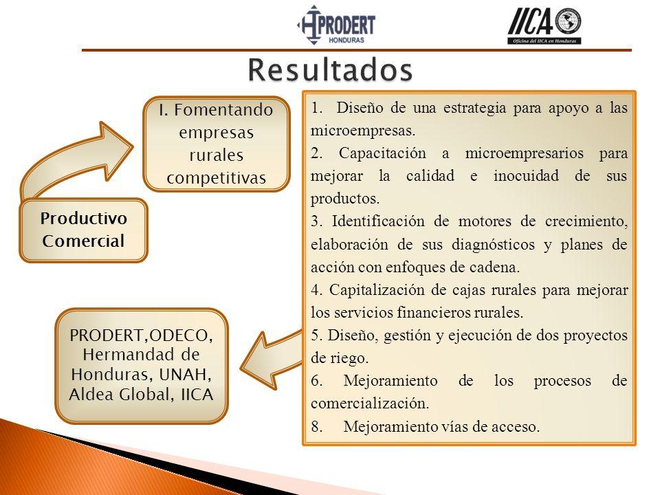 Resultados 1. Diseño de una estrategia para apoyo a las microempresas.