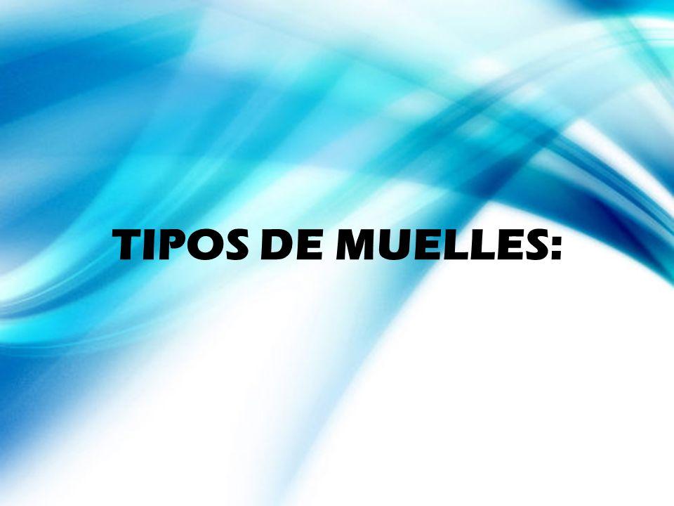 TIPOS DE MUELLES: