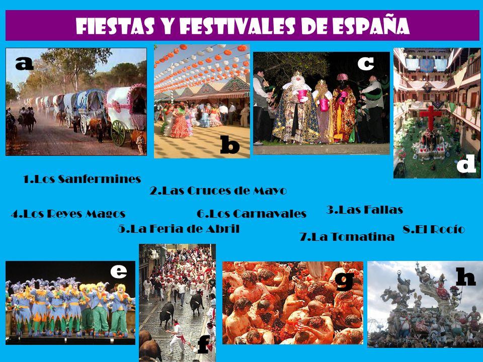 FIESTAS Y FESTIVALES DE ESPAÑA