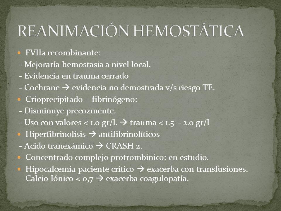 REANIMACIÓN HEMOSTÁTICA