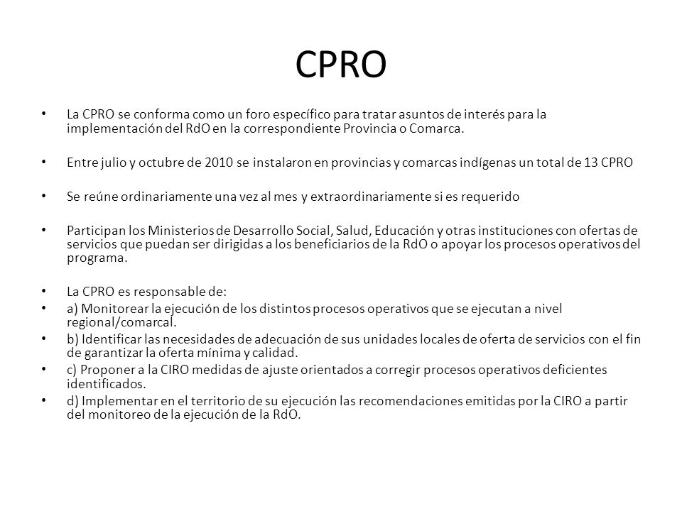 CPRO