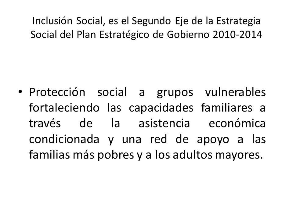 Inclusión Social, es el Segundo Eje de la Estrategia Social del Plan Estratégico de Gobierno 2010-2014