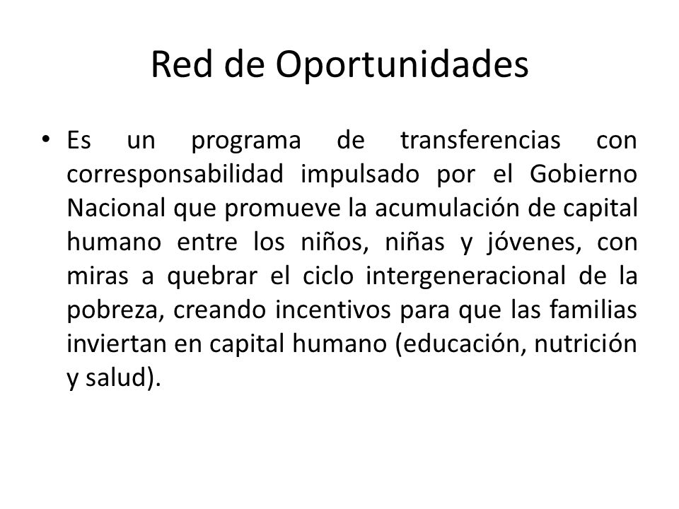 Red de Oportunidades