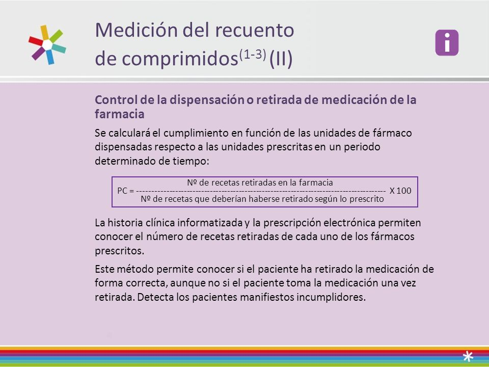de comprimidos(1-3) (II)