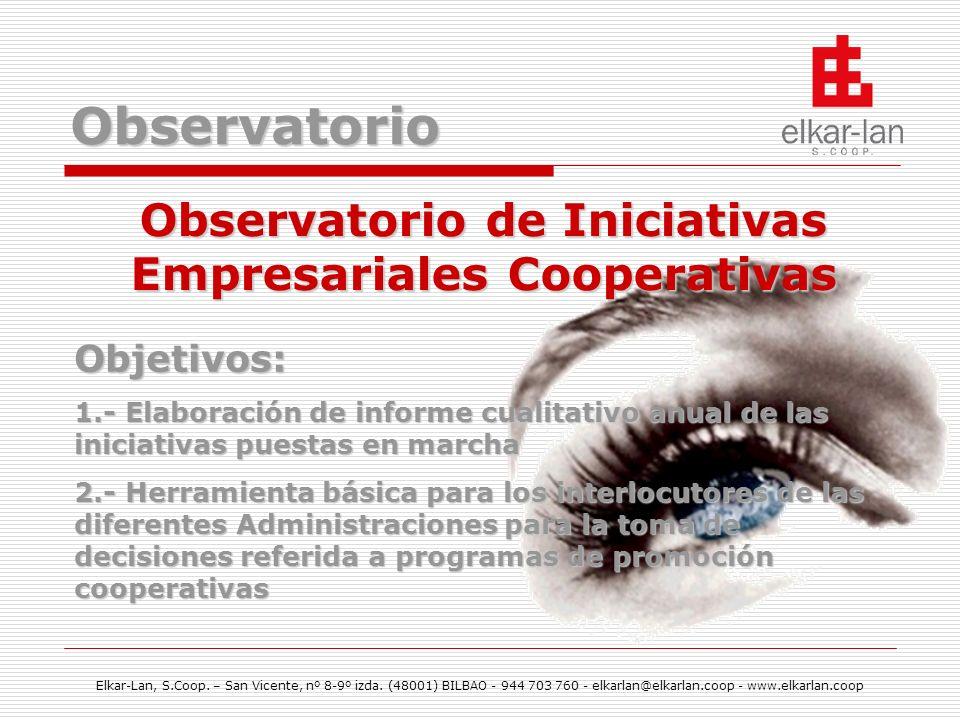 Observatorio de Iniciativas Empresariales Cooperativas