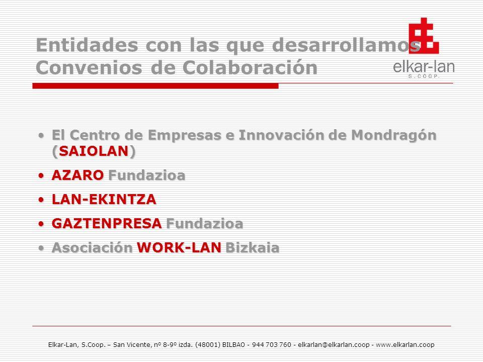 Entidades con las que desarrollamos Convenios de Colaboración