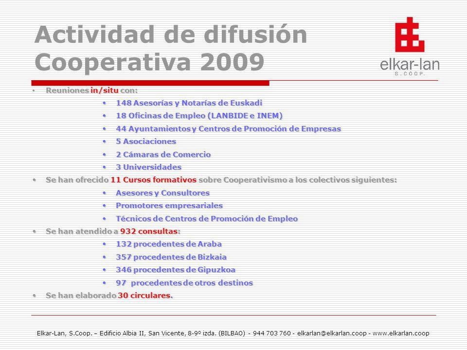 Actividad de difusión Cooperativa 2009