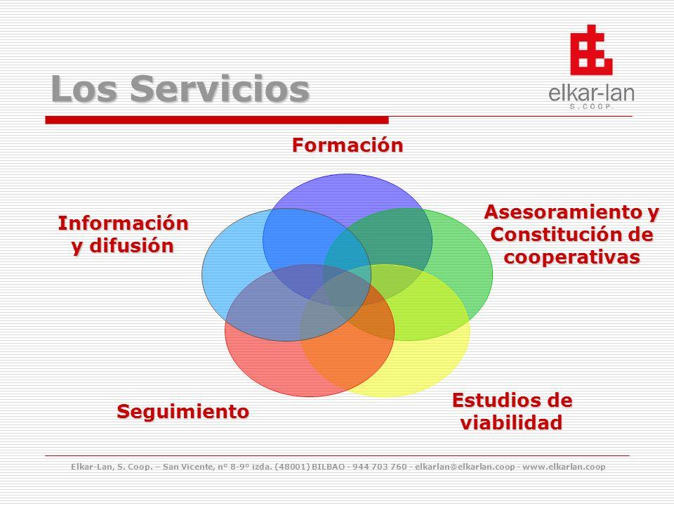 Los Servicios Elkar-Lan, S. Coop. – San Vicente, nº 8-9º izda.