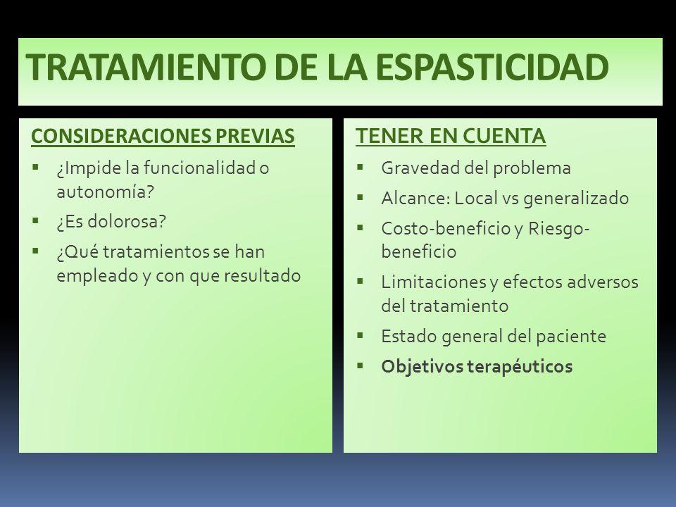 TRATAMIENTO DE LA ESPASTICIDAD