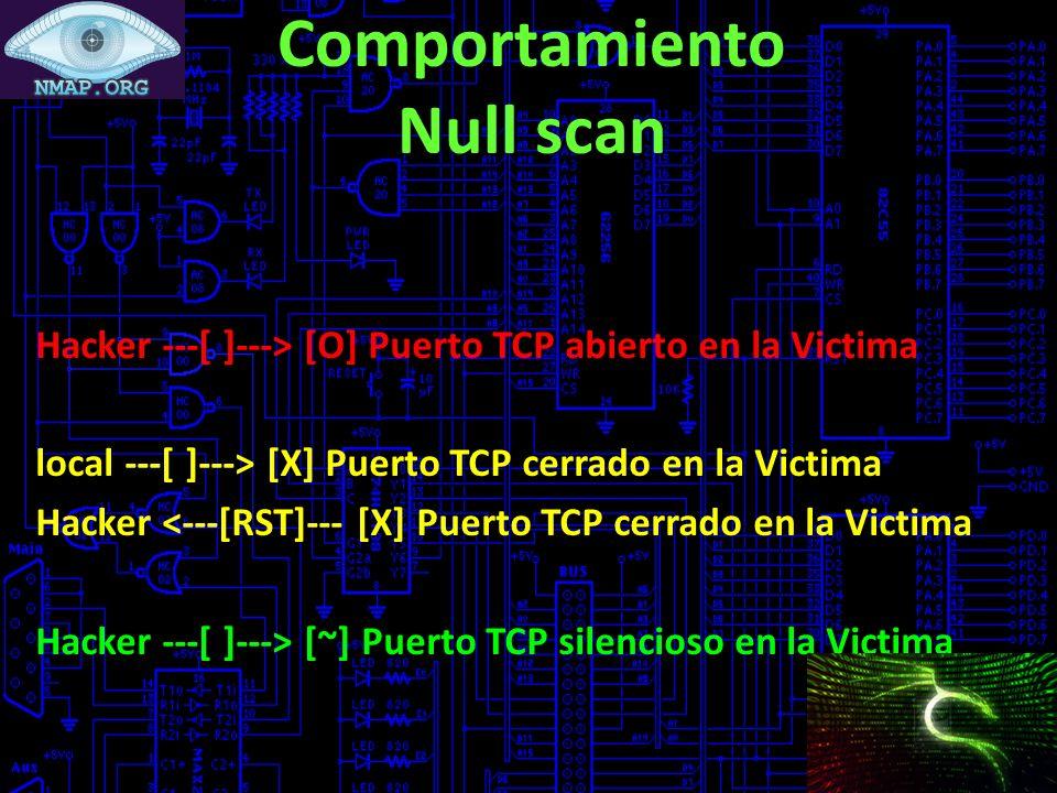 Comportamiento Null scan