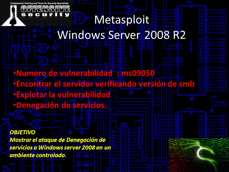 Metasploit Windows Server 2008 R2