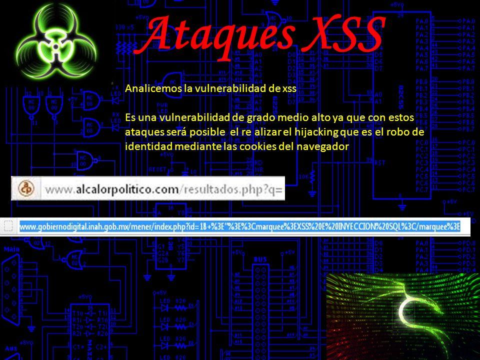 Ataques XSS Analicemos la vulnerabilidad de xss