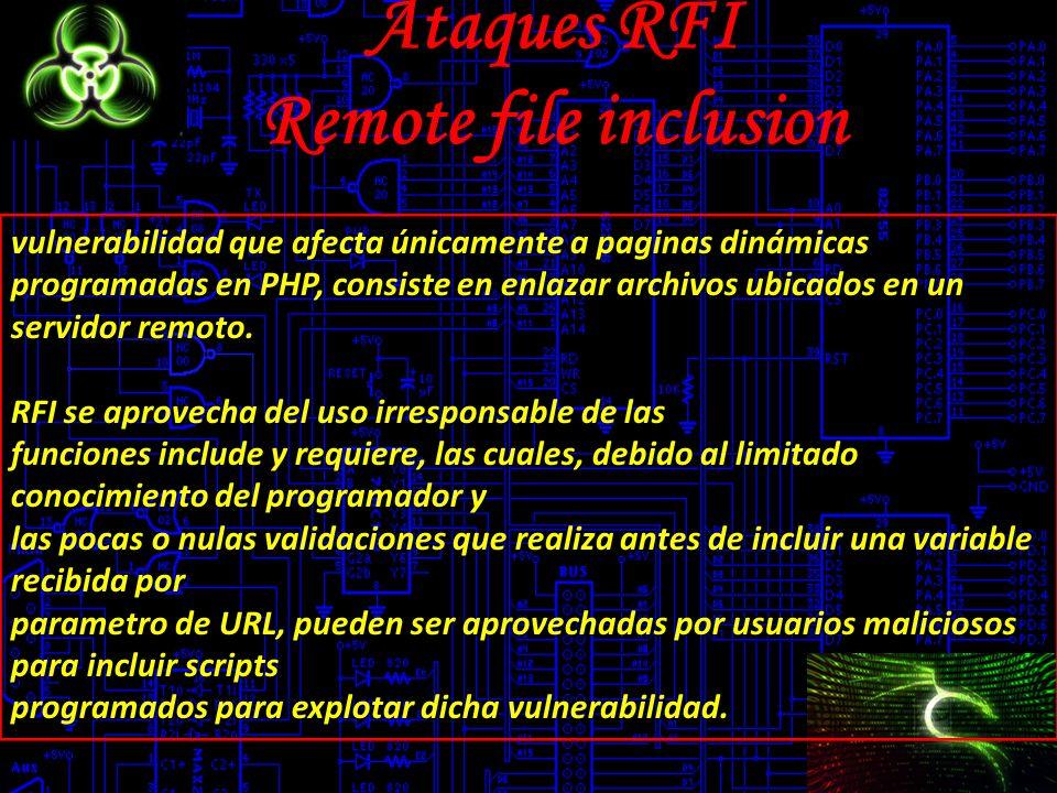 Ataques RFI Remote file inclusion