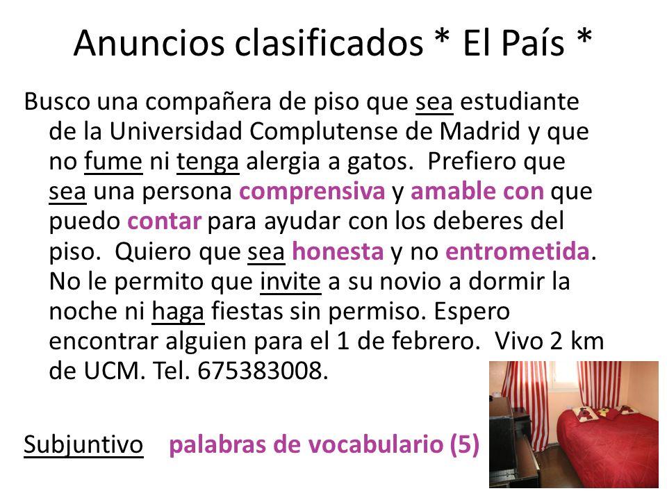 Anuncios clasificados * El País *