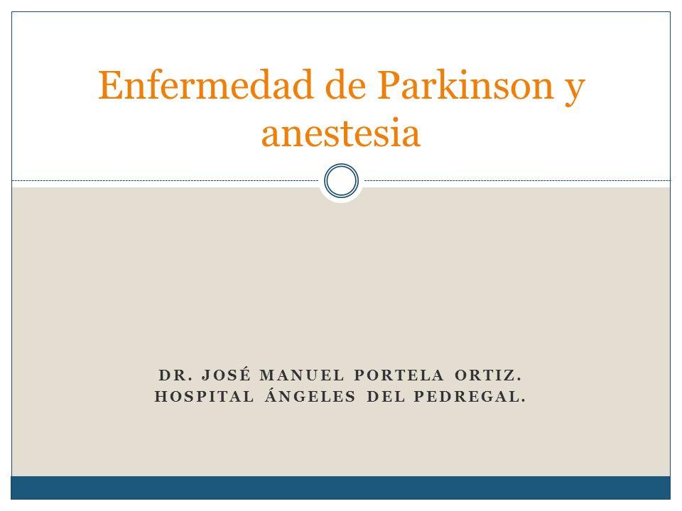 Enfermedad de Parkinson y anestesia