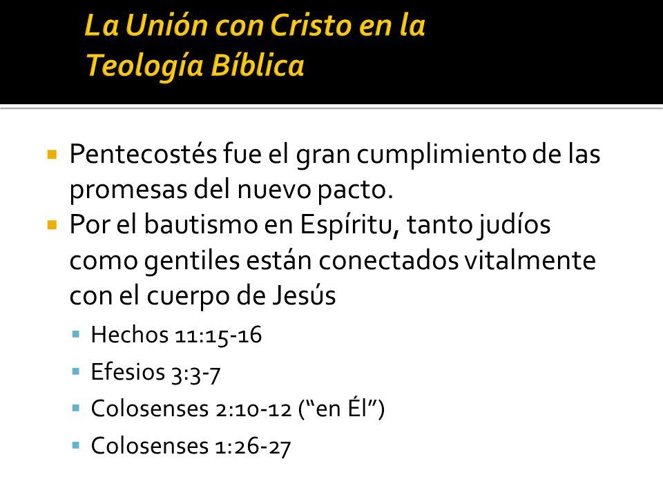 La Unión con Cristo en la Teología Bíblica