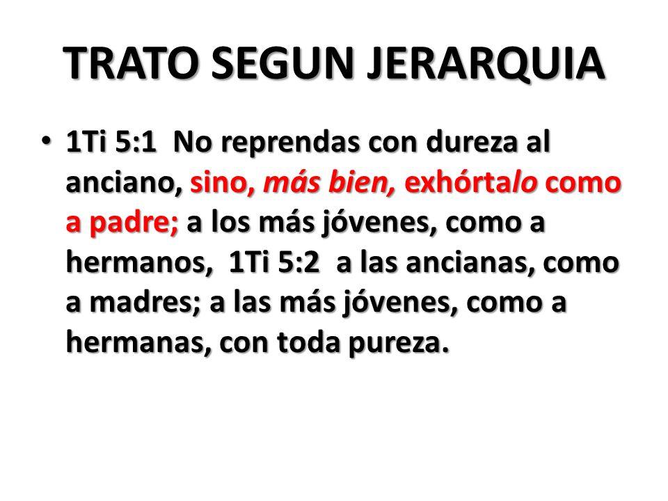 TRATO SEGUN JERARQUIA