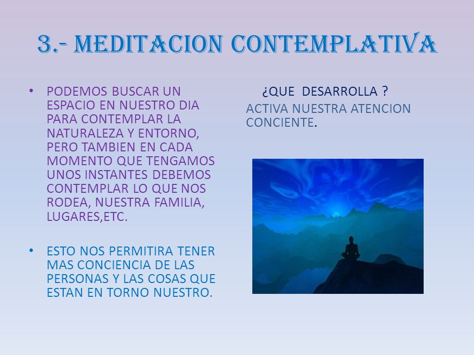 3.- MEDITACION CONTEMPLATIVA