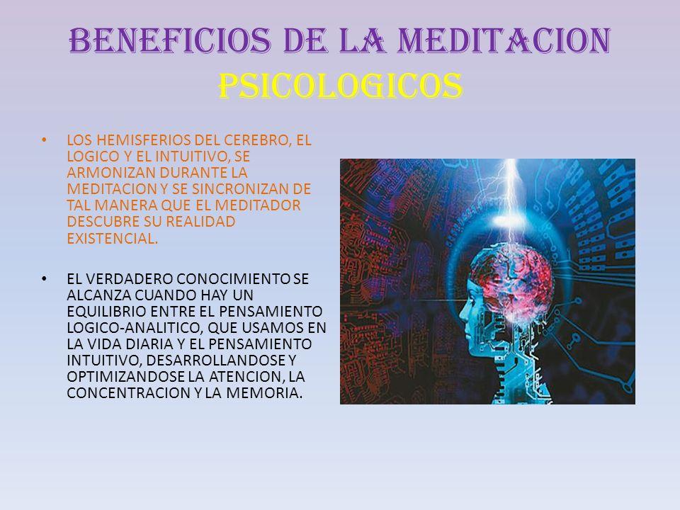 BENEFICIOS DE LA MEDITACION PSICOLOGICOS