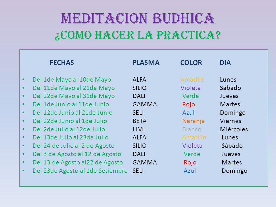 MEDITACION BUDHICA ¿COMO HACER LA PRACTICA