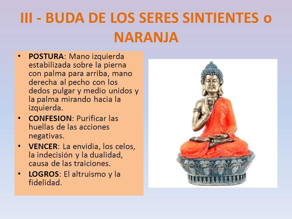 III - BUDA DE LOS SERES SINTIENTES o NARANJA