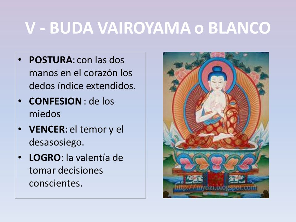 V - BUDA VAIROYAMA o BLANCO