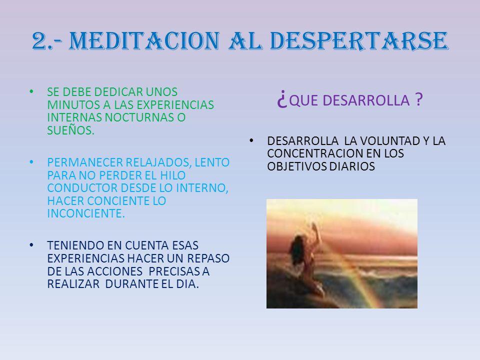 2.- MEDITACION AL DESPERTARSE