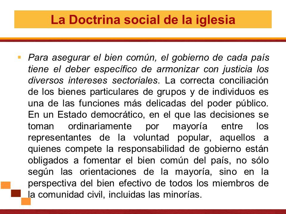 La Doctrina social de la iglesia