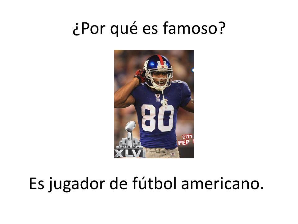Es jugador de fútbol americano.