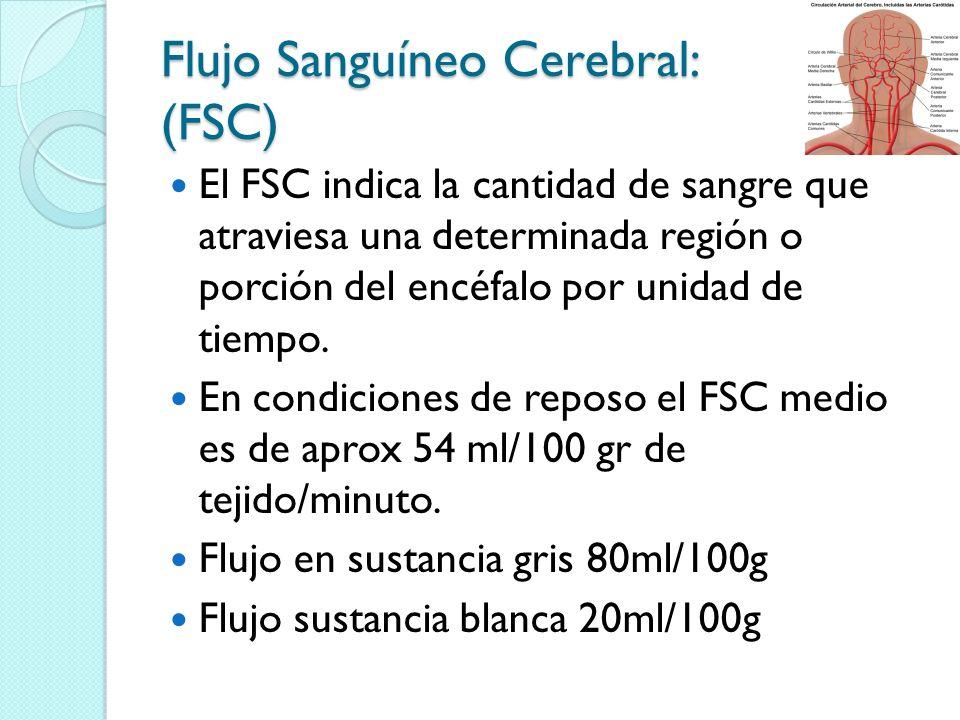 Flujo Sanguíneo Cerebral: (FSC)