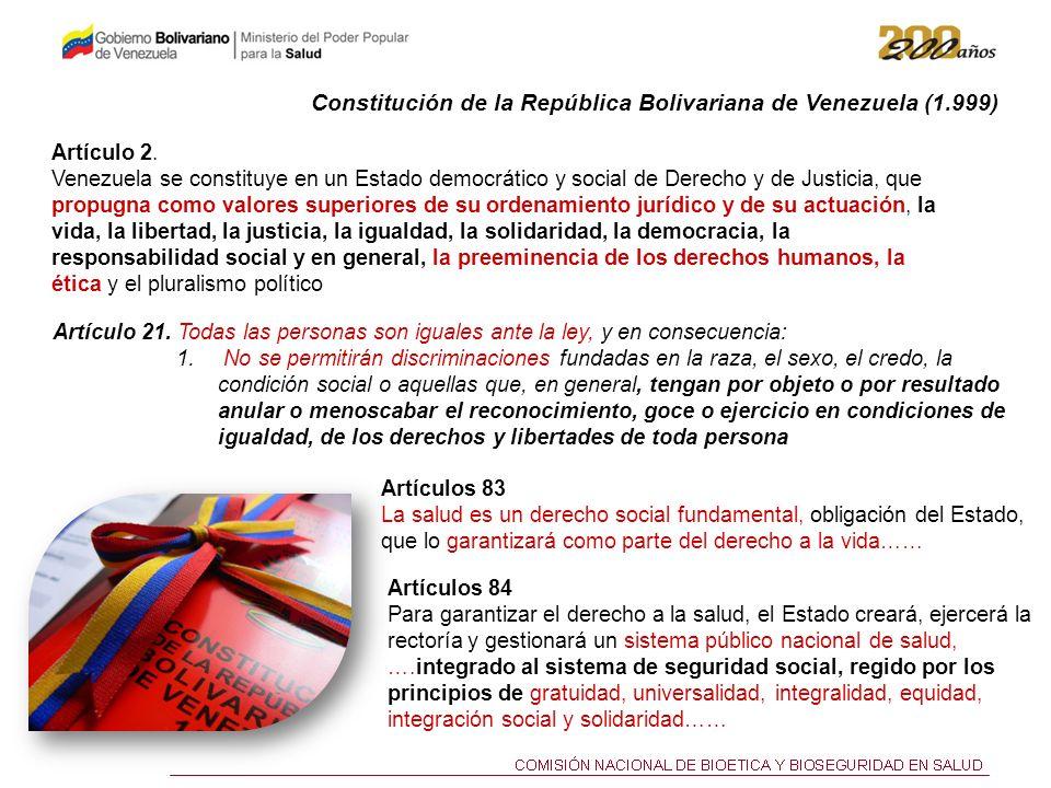 Constitución de la República Bolivariana de Venezuela (1.999)