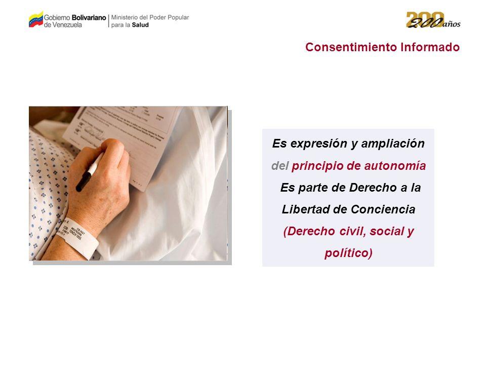 Es expresión y ampliación del principio de autonomía
