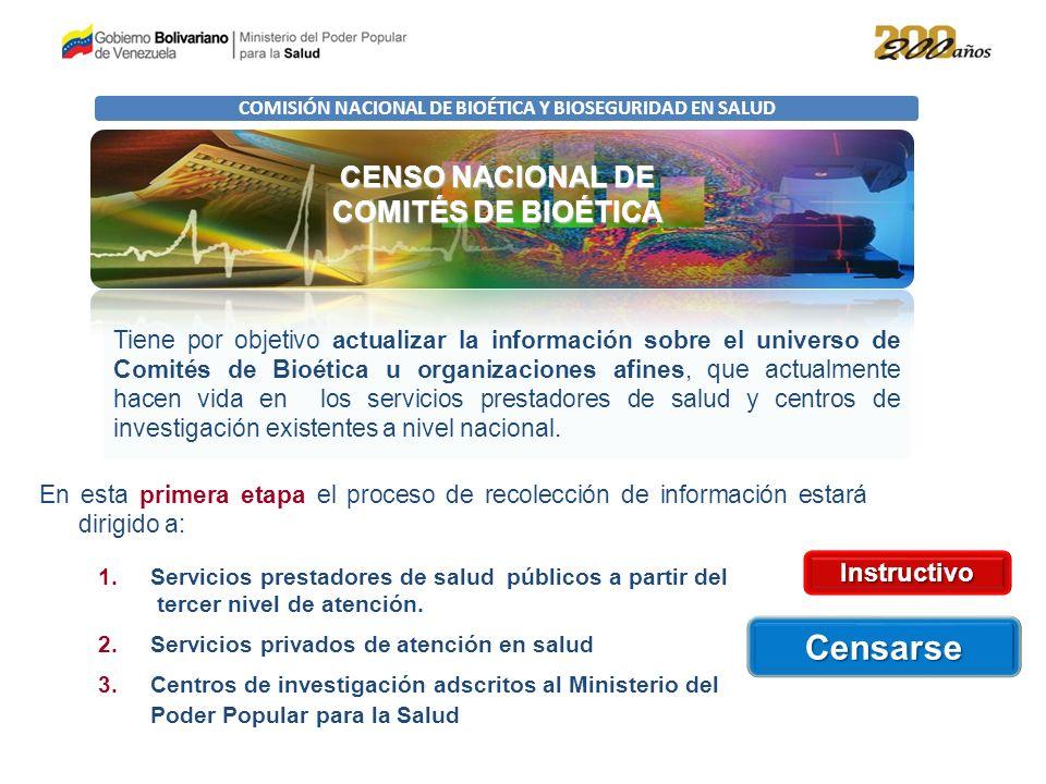 COMISIÓN NACIONAL DE BIOÉTICA Y BIOSEGURIDAD EN SALUD