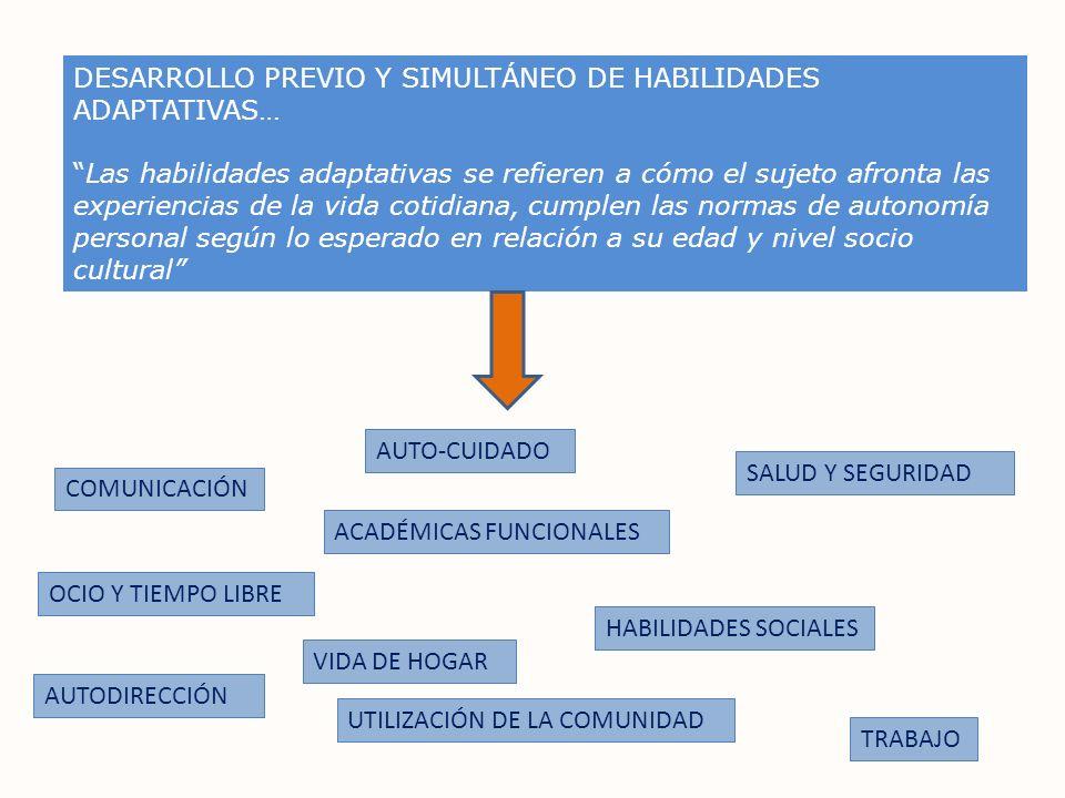 DESARROLLO PREVIO Y SIMULTÁNEO DE HABILIDADES ADAPTATIVAS…